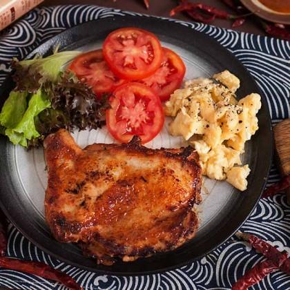 Hot & Spicy Chicken Chop 爆辣鸡扒 (Marinated - 1pc)