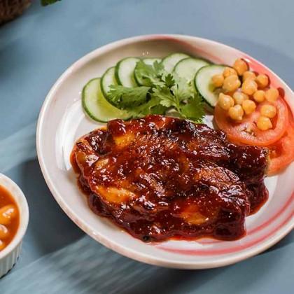 Gochujang Sauce Korean Chicken Chop 韩式辣酱鸡扒 1pc