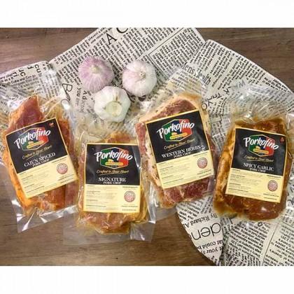 Pork Chop Tangy Mustard 香浓柠汁芥末猪扒 (2 pcs) 250gm±