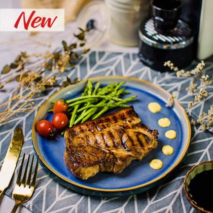 Pork Chop Tangy Mustard 香浓柠汁芥末猪扒 (2 pcs) 200gm±